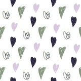 Seamless pattern with hearts. Valentines Day background. Can be used for textule, wallpapers, web, greeting cards and scrapbooking Stock Photography