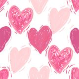 Seamless pattern with hearts. Valentines day background royalty free stock photo