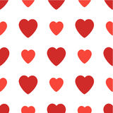 Seamless pattern with hearts. Valentines Day  background. Seamless pattern with red hearts. Valentines Day background Stock Photography