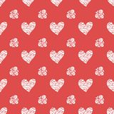 Seamless pattern with hearts. Valentines Day Royalty Free Stock Photography
