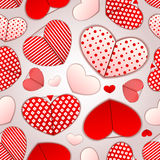 Seamless pattern with hearts. valentines day Stock Image