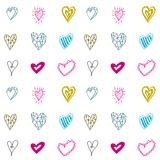 Seamless pattern with hearts for Valentines days or wedding day. Stock Photo