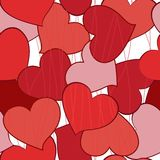 Seamless pattern with hearts in vector Royalty Free Stock Photo