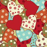 Seamless pattern with hearts in vector Stock Images