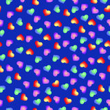 Seamless pattern of hearts Stock Photos
