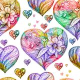 Seamless pattern with hearts. Vector, EPS 10 Royalty Free Stock Photo