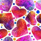 Seamless pattern with hearts.  Vector, EPS 10 Stock Photography