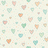 Seamless pattern with hearts stock illustration