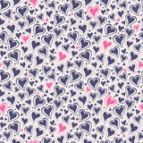 Seamless pattern with hearts. Vector illustration royalty free illustration