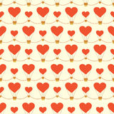 Seamless pattern with hearts. Vector illustration Royalty Free Stock Photos