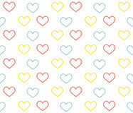 Seamless pattern with hearts. Royalty Free Stock Photo