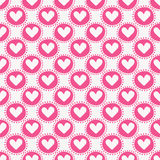 Seamless pattern with hearts. Vector illustration. Royalty Free Stock Images