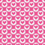 Seamless pattern with hearts. Vector illustration. Stock Photo