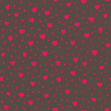 Seamless pattern with hearts. Vector illustration. Stock Images