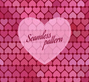 Seamless pattern with hearts. Vector illustration Stock Image