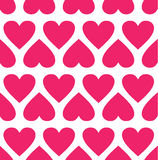 Seamless pattern with hearts.Vector illustration Royalty Free Stock Photos