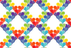 Seamless Pattern of Hearts Royalty Free Stock Photography