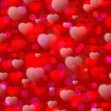 Seamless pattern with hearts.Vector illustration Stock Photos