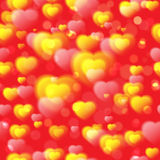 Seamless pattern with hearts.Vector illustration Royalty Free Stock Photo