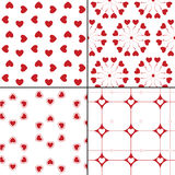 Seamless pattern with hearts. Vector repeating Royalty Free Stock Photo