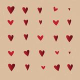 Seamless  pattern with hearts. Vector repeating texture. Stylish Royalty Free Stock Image