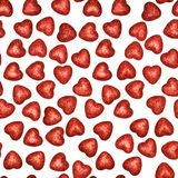 Seamless pattern of hearts on white Royalty Free Stock Images