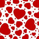 Seamless pattern from hearts Stock Photography