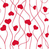 Seamless pattern from hearts on a white background Stock Photos