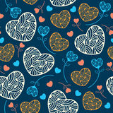 Seamless pattern with hearts for your design Royalty Free Stock Photo