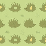 Seamless pattern with hedgehog. Apple, pear, mushroom, flover Stock Photography