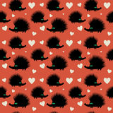 Seamless pattern, hedgehog theme Royalty Free Stock Photo
