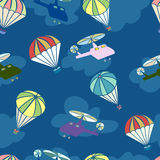 Seamless pattern with helicopters for boys. Royalty Free Stock Photo