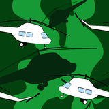 Seamless pattern with helicopters Stock Photo