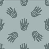 Seamless pattern with her hands Stock Photography