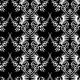 Seamless pattern heraldic gryphon Royalty Free Stock Photos