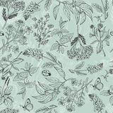 Seamless pattern with herbs light green background Stock Photography