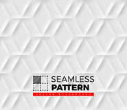 Seamless pattern with hexagonal cells made from shadows and ligh Stock Photography