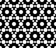 Seamless pattern, hexagonal grid Royalty Free Stock Photography