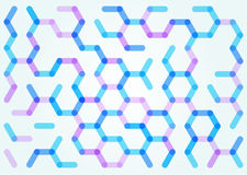 Seamless pattern of the hexagonal net Royalty Free Stock Photos