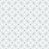 Seamless pattern with hexagons and nodes Royalty Free Stock Photography