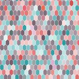 Seamless pattern of hexagons, pink, blue, brown. Vector Stock Photos