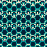 Seamless pattern of hexagons placed one inside another Stock Images