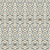 Seamless pattern with hexagons, in retro colors Stock Photo