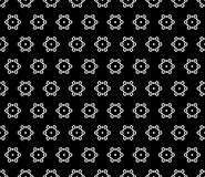 Seamless pattern with hexagons, simply snowflakes. Royalty Free Stock Photo