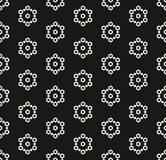 Seamless pattern with hexagons, snowflakes. Royalty Free Stock Photography
