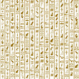Seamless pattern with hieroglyphs Royalty Free Stock Photography