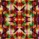 Seamless pattern hippie abstract tie dye rorschach Stock Images