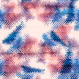 Seamless pattern hippie tie dye Rorschach summer Royalty Free Stock Photos