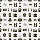 Seamless pattern with hipster accessories Stock Photos
