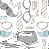 Seamless pattern with hipster clothes Royalty Free Stock Image